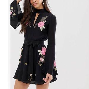 Millie Macintosh Rose Embroidered Dress